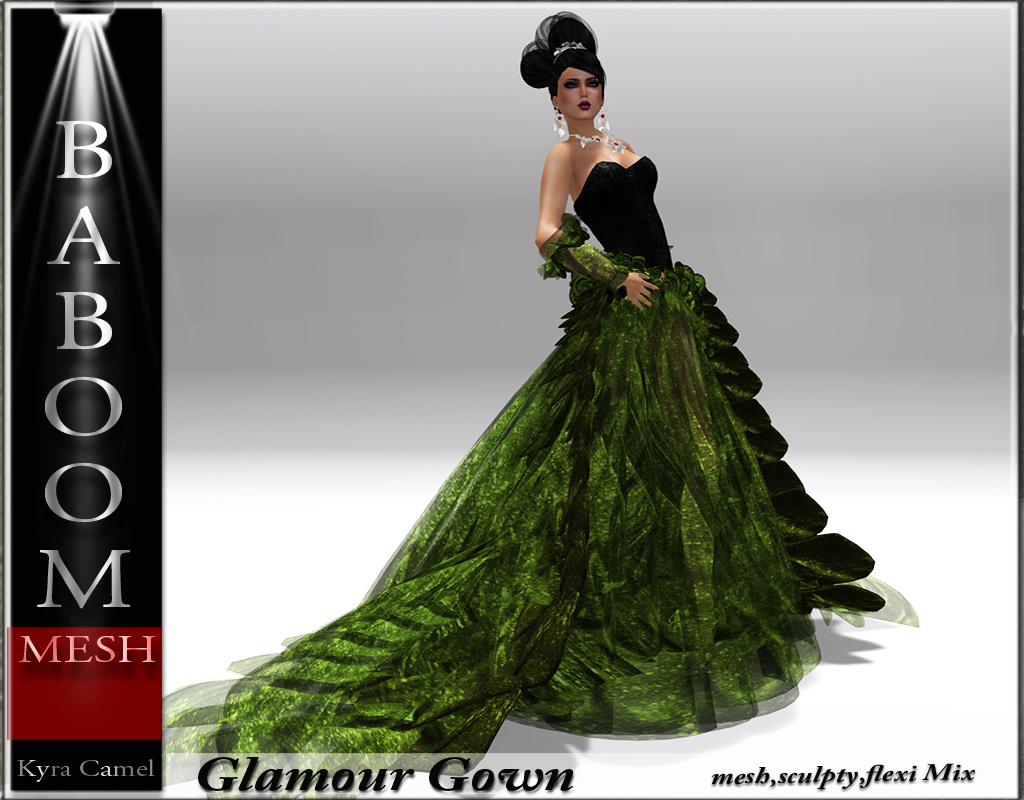 Baboom-Glamour-Gown-green